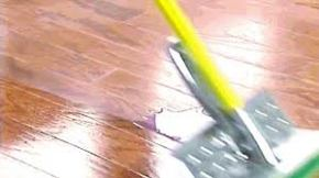 Mopping floor with wax
