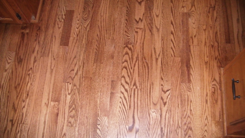 Hardwood floor with 14 plugs